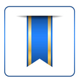 Blue bookmark banner vector image vector image