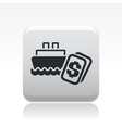 boat price icon vector image vector image