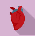 body human heart icon flat style vector image vector image