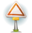 cartoon blank road sign vector image vector image