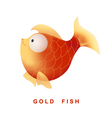 Cartoon gold fish isolated on white background vector image