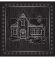Christmas handdrawn house and floral frame vector image vector image