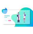 clinic medicine profession website landing page vector image