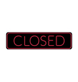 Closed Sign Neon vector image vector image
