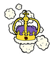 comic cartoon crown vector image