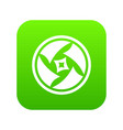 covered objective icon digital green vector image vector image