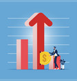 financial growth concept-exponential income vector image