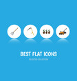 flat icon farm set of cutter hay fork flowerpot vector image vector image