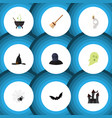 flat icon festival set of fortress superstition vector image vector image