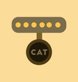 flat icon on background cat collar vector image vector image