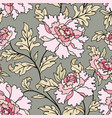 floral seamless pattern flowers and leaves garden vector image vector image