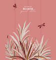 foliage palm leaf beige plant leaves small vector image
