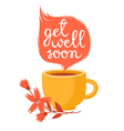 Get well soon vector image vector image