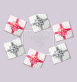 gift box set realistic product placement vector image