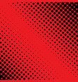 halftone red and black dot background good vector image