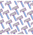 hammer tool pattern background vector image vector image