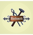 Hand drawn blacksmith labels vector image