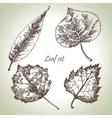 Hand drawn leaf set vector image