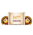 happy thanksgiving card cartoon turkeys vector image