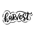 harvest fest typography poster with hand lettering vector image