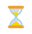 hourglass icon flat style sandglass vector image vector image