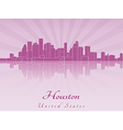 Houston skyline in purple radiant orchid vector image vector image