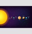 infographic solar system planets on universe vector image vector image