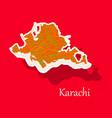 karachi pakistan colorful sticker map streets vector image vector image