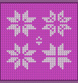 knitted christmas knitted pattern vector image vector image