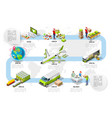 logistic infographic trade logistics network vector image vector image