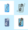 misplacing things concept icon set in flat vector image vector image