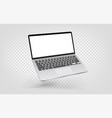 modern laptop isolated on transparent background vector image vector image