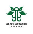 natural octopus logo design vector image vector image