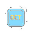 october calender icon design vector image