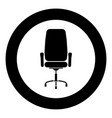 office chair icon black color in circle vector image vector image