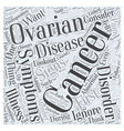 ovarian cancer symptoms Word Cloud Concept vector image vector image