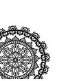 partial dreamcatcher mandala on white background vector image vector image