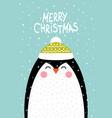 penguin in a scandinavian style vector image vector image