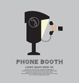 Public Phone Booth vector image