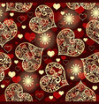 purple seamless valentine pattern with golden vector image