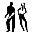 salsa party time young couple dancing latin music vector image vector image