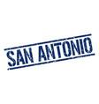 san antonio blue square stamp vector image vector image