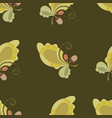 seamless autumn print with oak leaves and acorns vector image
