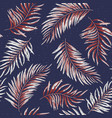 seamless pattern of a tropical palm tree jungle vector image