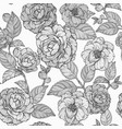 seamless pattern with camellia flowers camellia vector image vector image