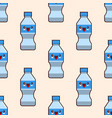 seamless plastic bottles pattern cute kawaii vector image