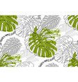 seamless tropical pattern in style doodle vector image vector image