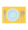 Served table icon in cartoon style isolated on vector image