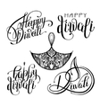 set of black and white hand drawing design element vector image