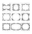 Set of frames with decorative graphic elements vector image vector image